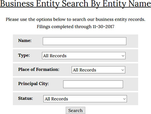 Alabama Sos Business Eny And Corporation Search